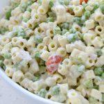 Ensalada de pasta con atún y mayonesa